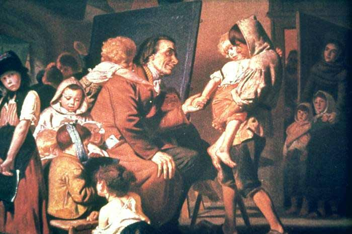 Pestalozzi educando órfãos na Suíça