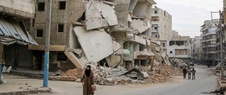 Milhares de novos refugiados com a destruição de Aleppo, Síria